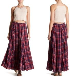 Melrose and Market | Plaid Print Maxi Skirt NWT S